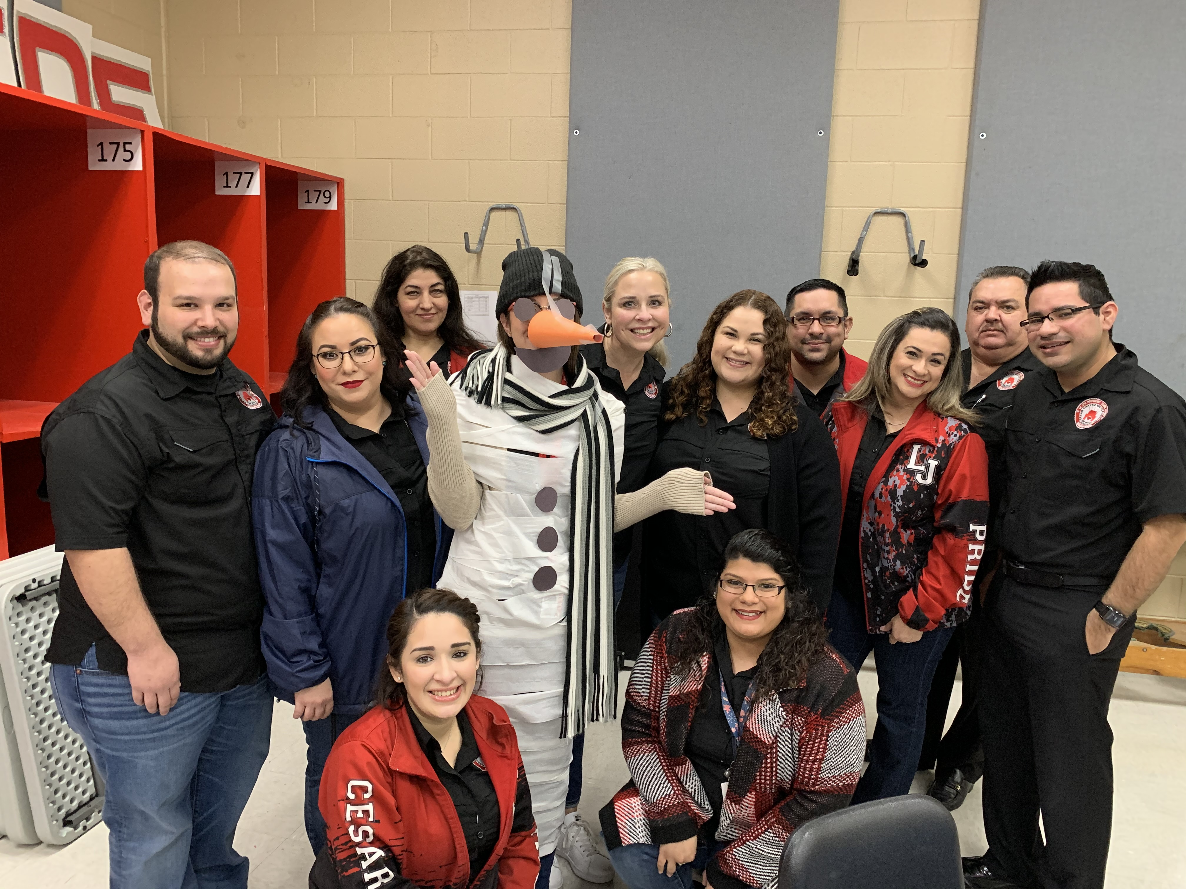 Elective Teachers featuring snow-woman Ms. Pulido