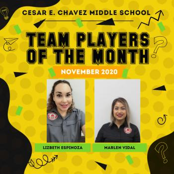 Team Players of the Month: November