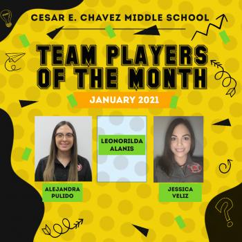 Team Players of the Month: January