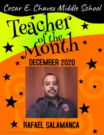 Teacher of the Month: December