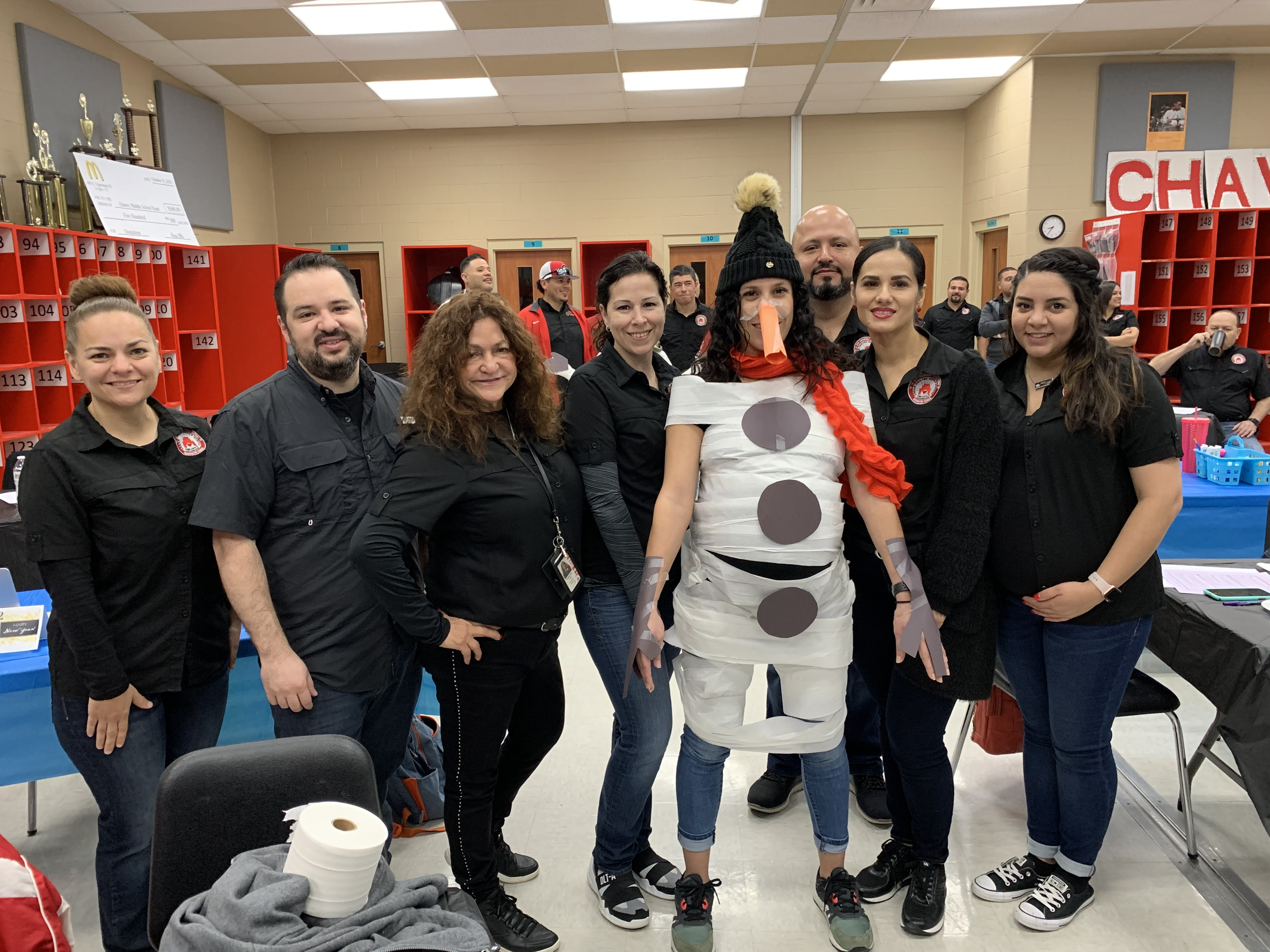 Social Studies Teachers featuring snow-woman Mrs. Luna