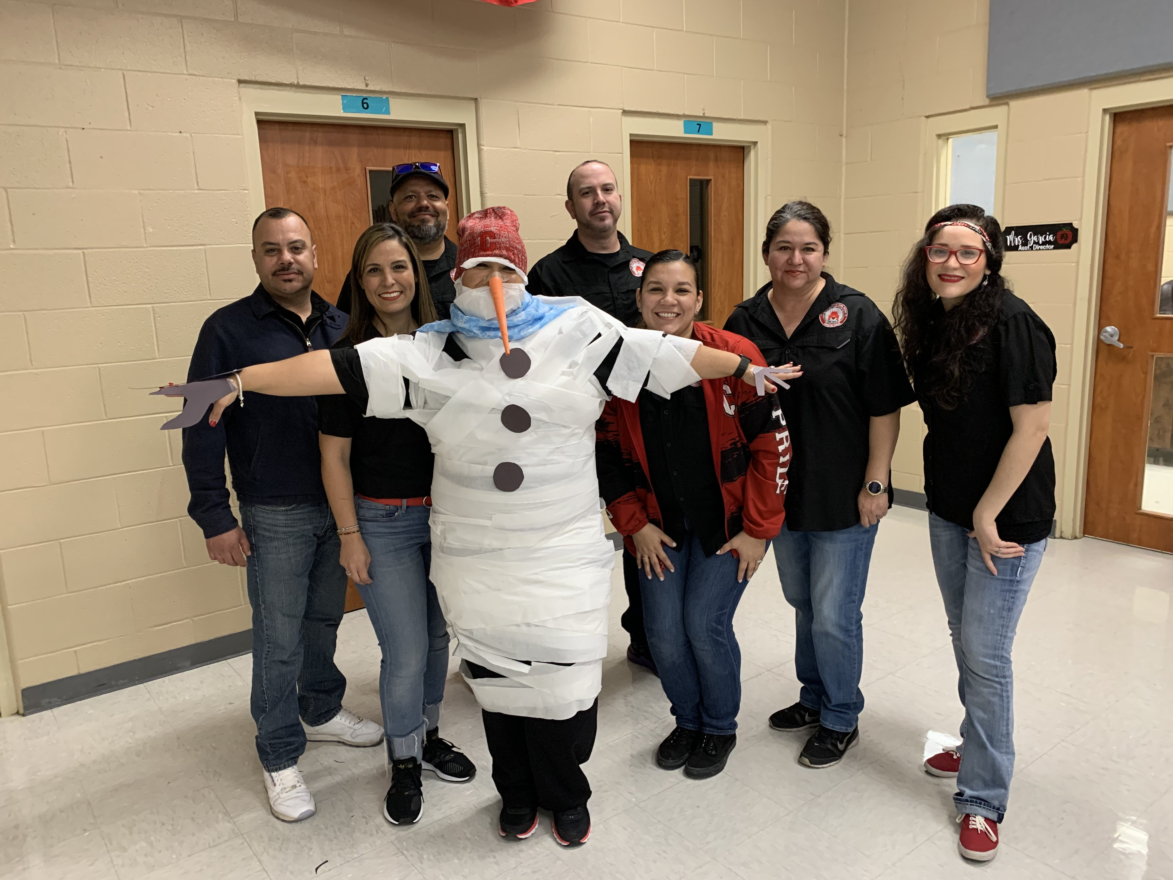 Math Teachers featuring snow-woman Ms. Flores
