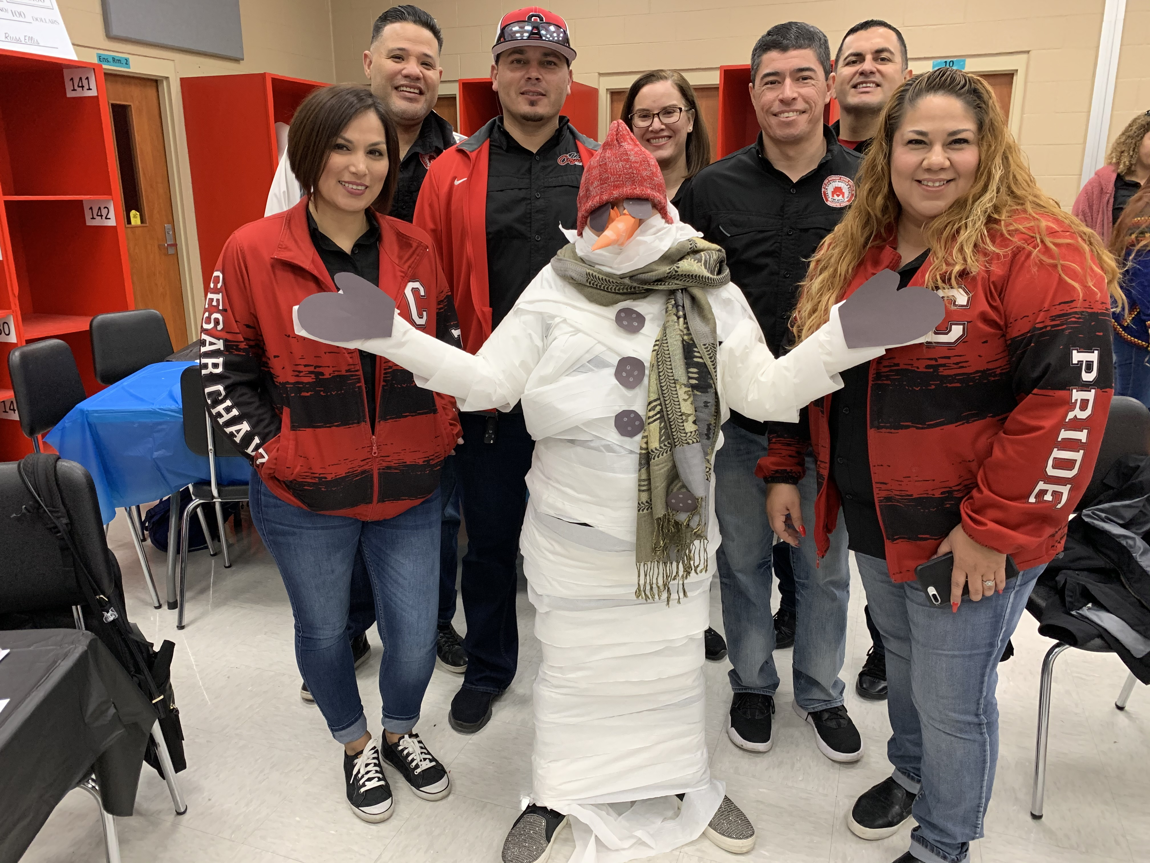 Elective Teachers featuring snow-woman Mrs. Rodriguez