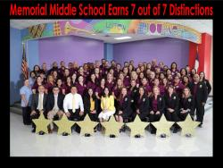 Memorial Middle School Earns 7 out of 7 Distinctions