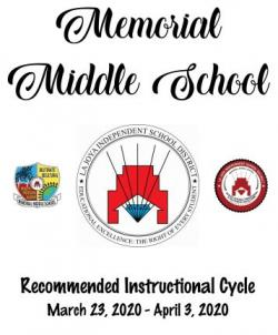 Recommended Instructional Cycle for March 23 - April 3, 2020