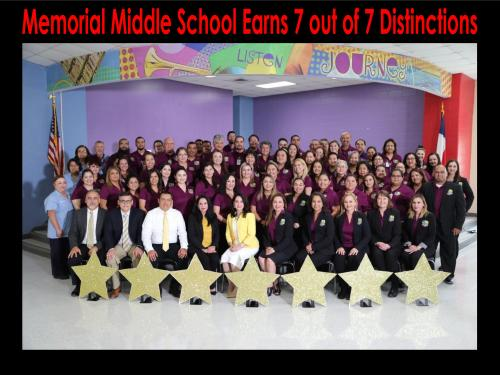 Memorial Middle School Staff Picture
