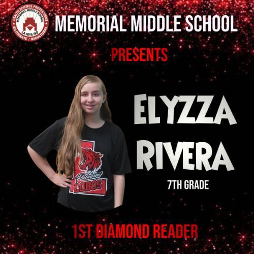 Elyzza Rivera 1st Diamond Reader