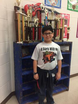 Student Juan Urbina, from 6th grade!