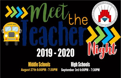meet the teacher night flyer