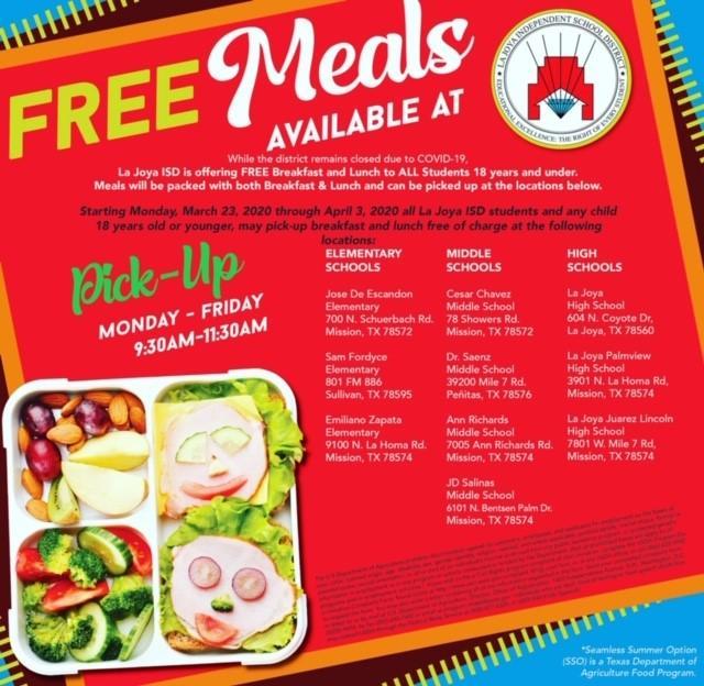 Free Meals for La Joya ISD Students