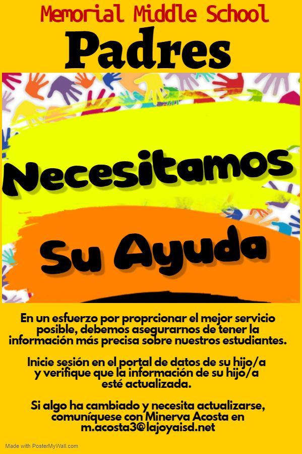 Update Information Spanish Flyer