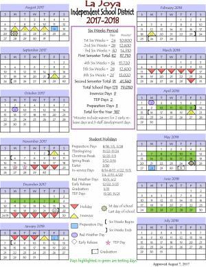 2017-2017 School Calendar