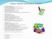 parent teacher student contract
