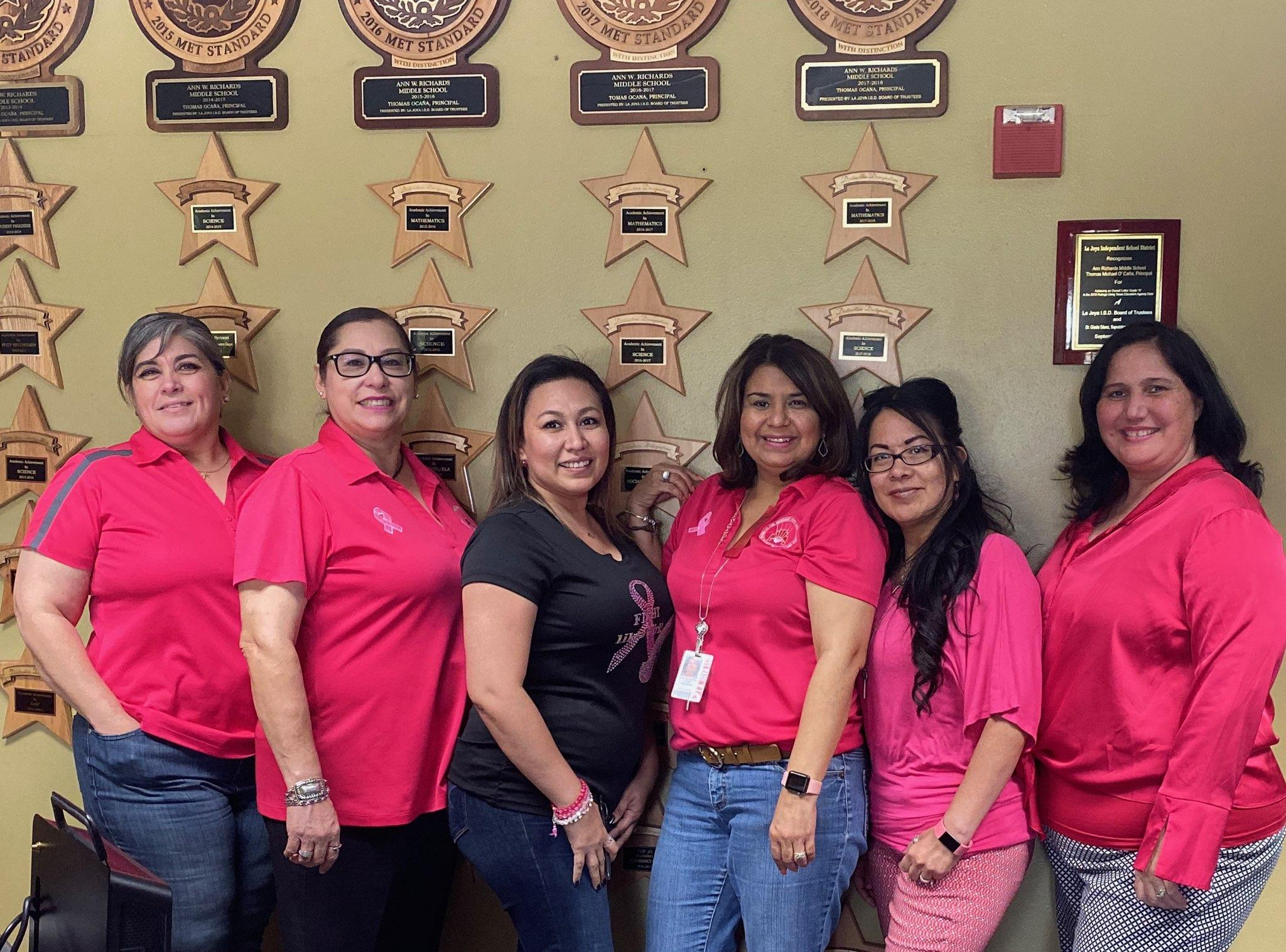 Staff Supports Pink over Drugs