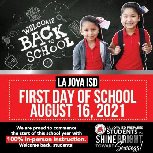 First Day of School 2021 English