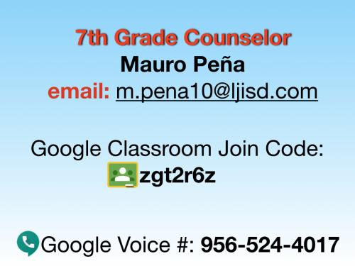Counselors Contact Info