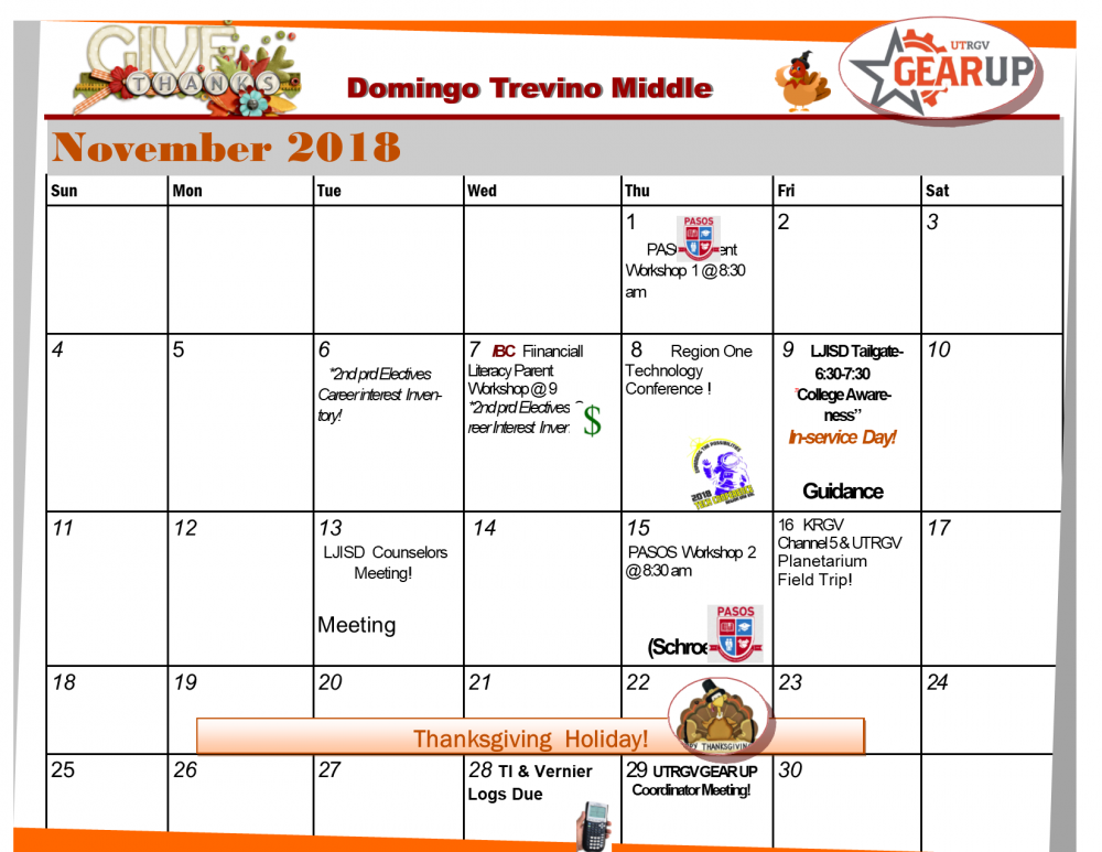 November Gearup Calendar