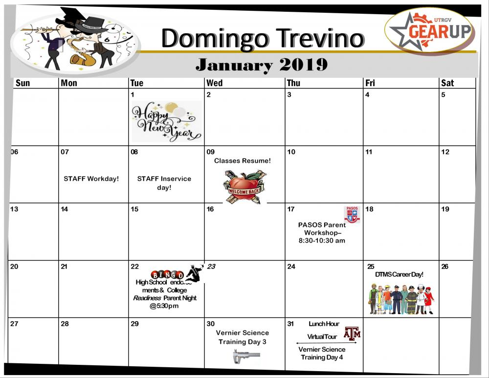 January gear up calendar
