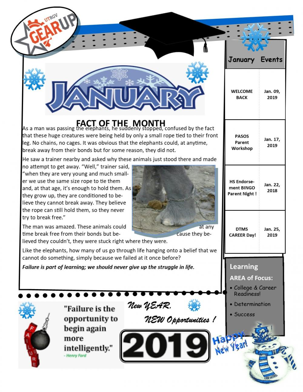 January gear up newsletter