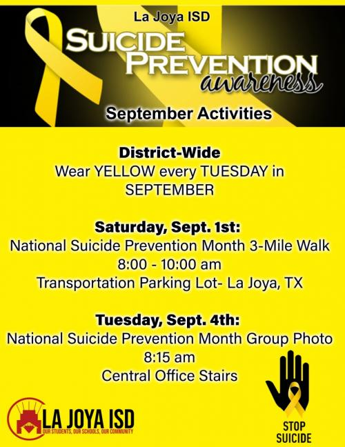 Suicide Prevention Awareness flyer