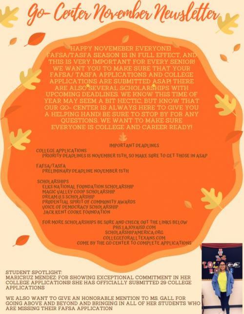November Go Center Newsletter