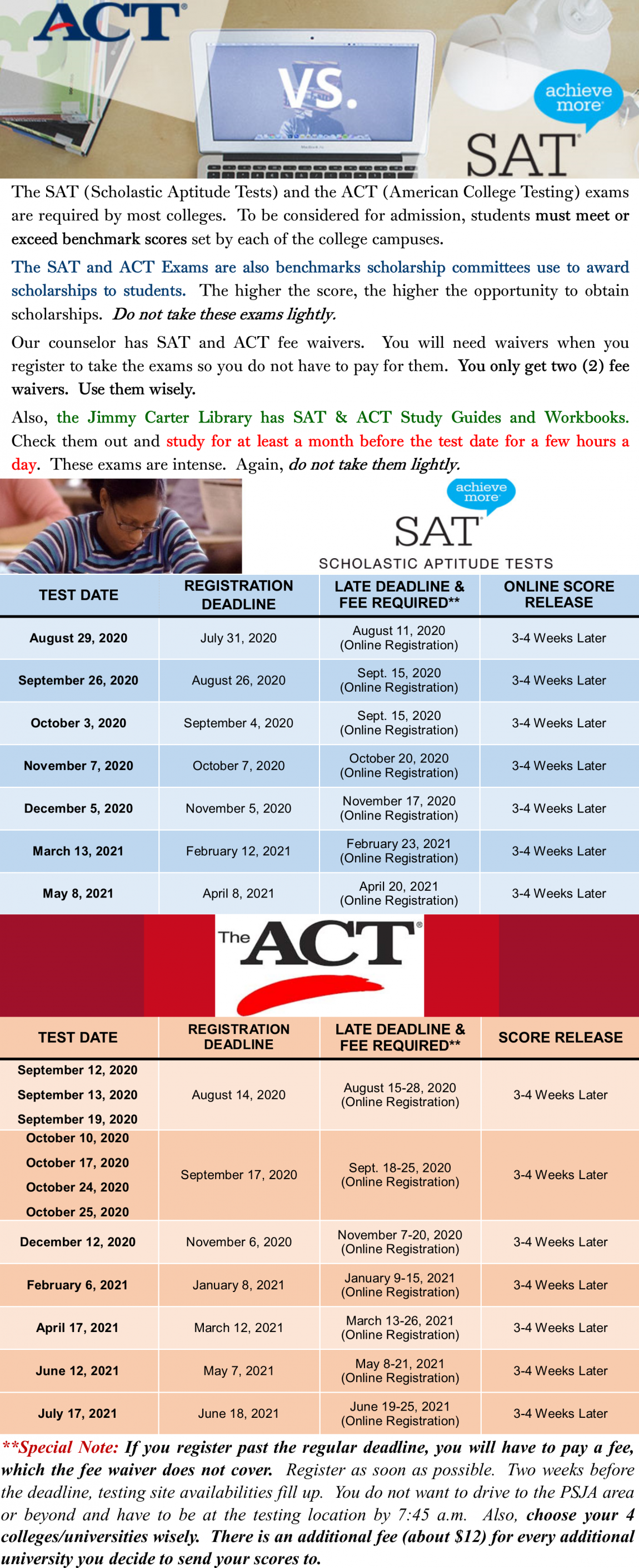 ACT-SAT Info