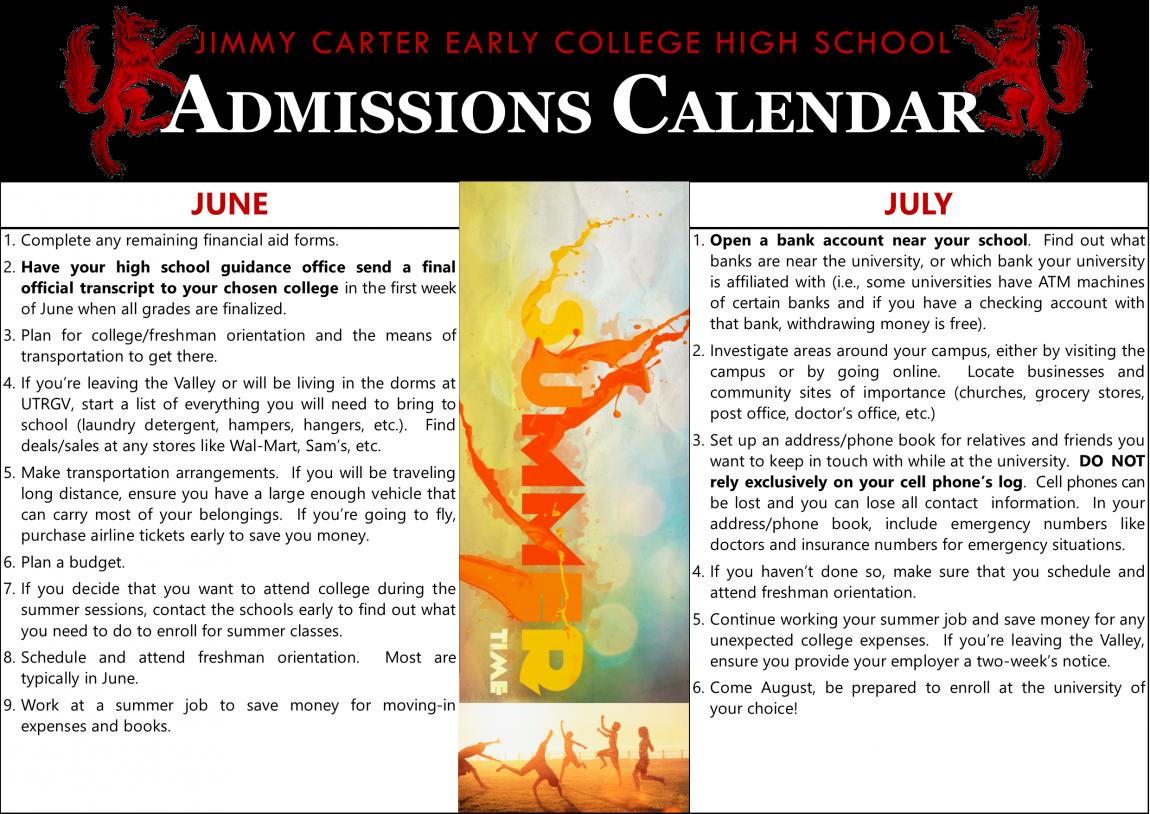 Senior Admissions Calendar 3