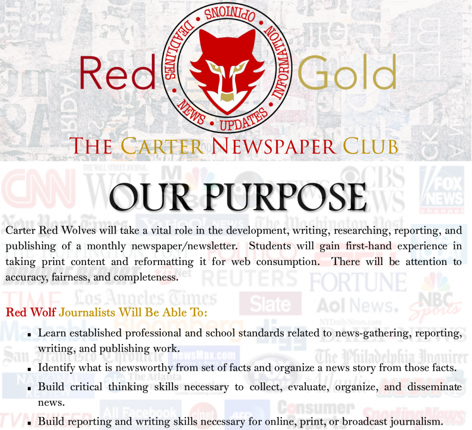 Red-Gold Newspaper