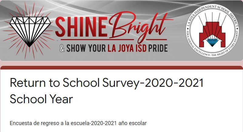 Parent Survey for Preparation of the Upcoming School Year 2020-2021