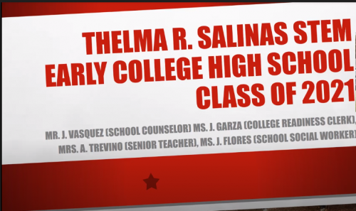 Thelma Salinas STEM ECHS Class of 2021 Parent Meeting