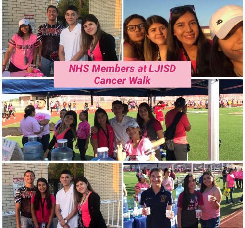 NHS Members at the 2019 Breast Cancer Awareness Walk