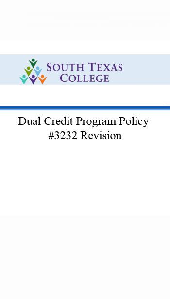 Dual Credit Program Policy
