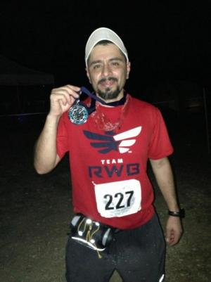 I used to run half marathons, 5ks, 10Ks, 15ks, 25Ks, 30Ks--like this one, a nighttime race in the Hill Country, near Austin.