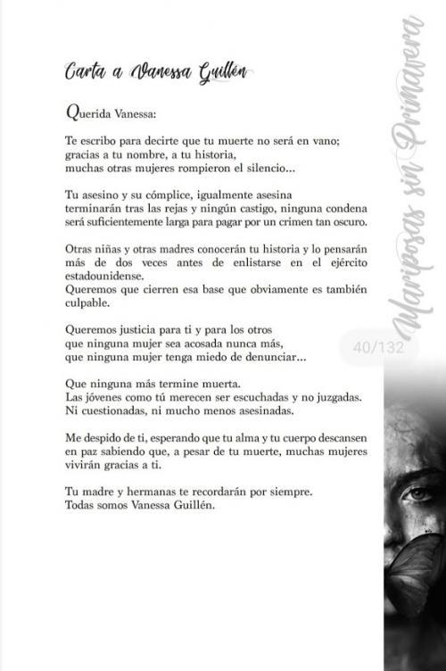 Poema Carta a Vanessa Guillen