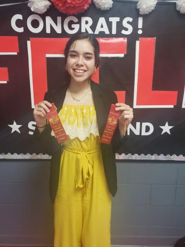 Fernanda Cantú placed fourth in prose and fifth in poetry.