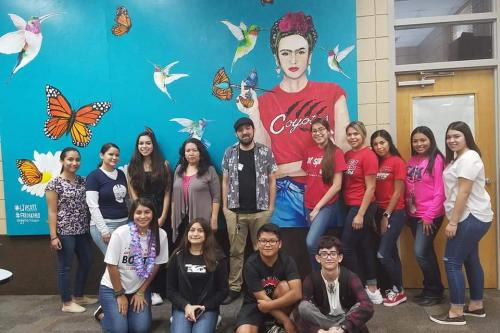 Spanish 2315 class with RGV poets on Hispanic Heritage Month Presentation