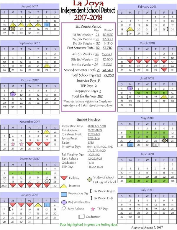 2017-18 Calendar