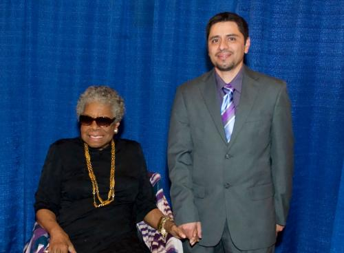 Maya Angelou and Me . . . holding hands backstage. 'Cause that's how we do. <3