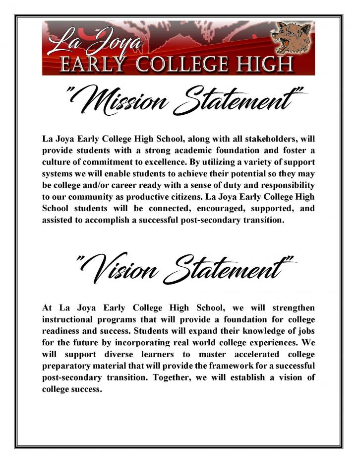 Mission Vision Statement