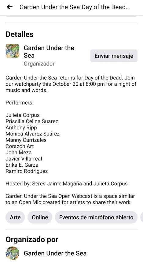 Garden Under the Sea Day of the Dead Performers
