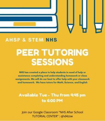 AHSP-STEM PEER TUTORING