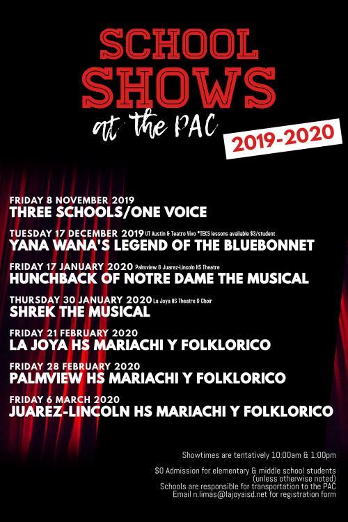 PAC Performances 2019-20