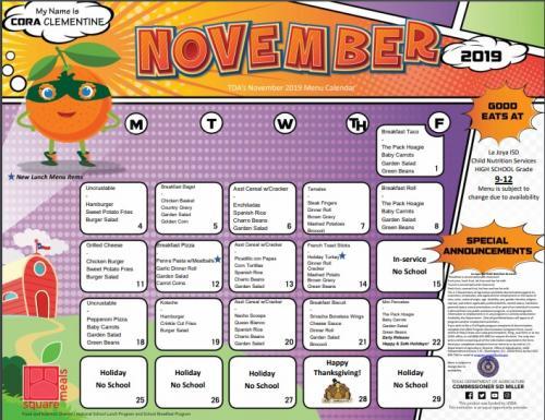 LJISD November Calendar