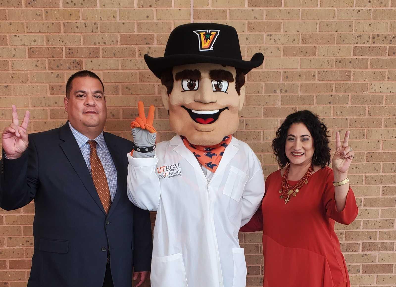 UTRGV announces Vaquero MD program for high school students, Mr. Rodriguez Thelma Salinas STEM Principal and Mrs. Herrera AHSP & STEM Principal visit UTRGV for more information