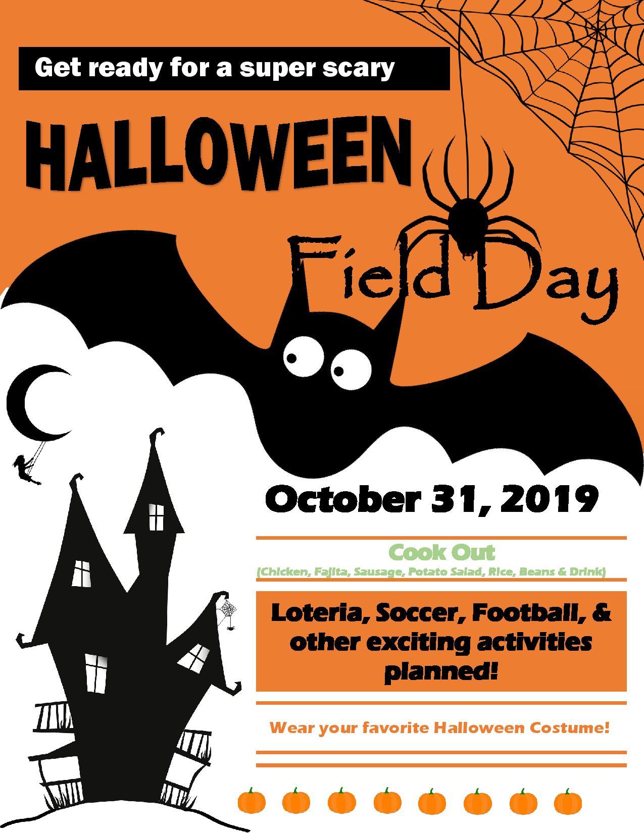 Halloween Field Day Flier
