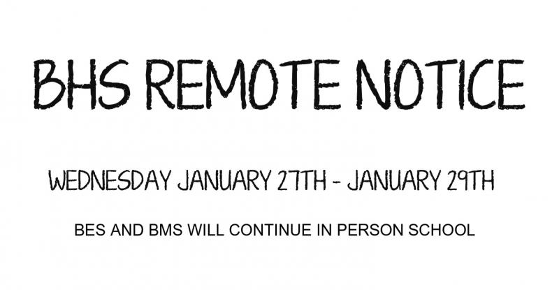 REMOTE NOTICE FOR BHS ONLY
