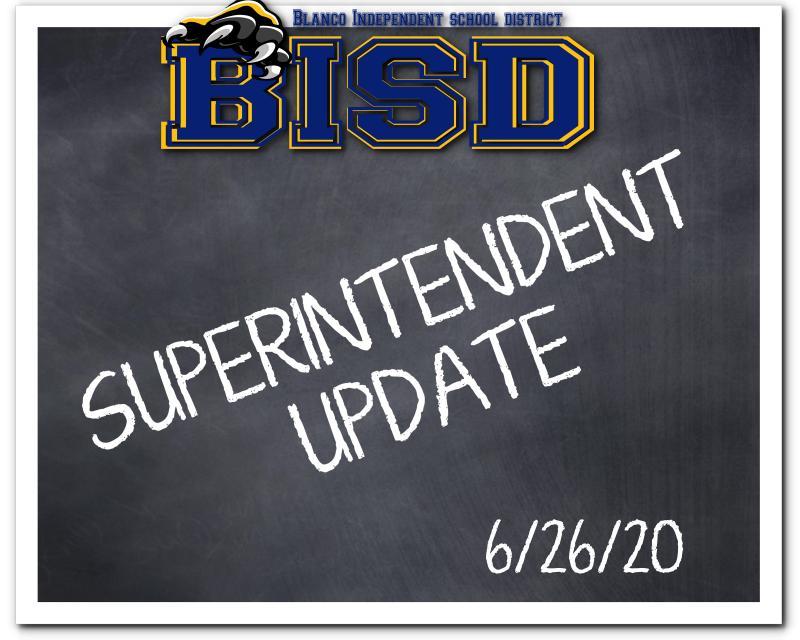 Superintendent Update 6/26/20