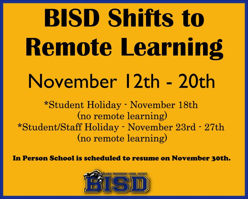 BISD Shifts to Remote Learning