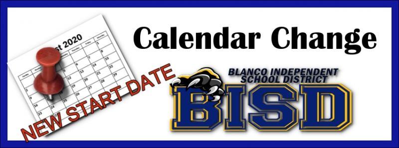 Message from Superintendent - BISD CALENDAR CHANGE