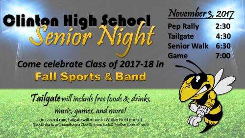 Senior Night Flyer